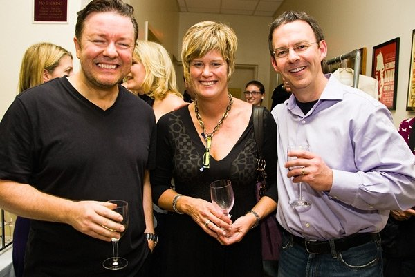 Ricky Gervais backstage at Carnegie Hall